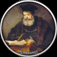 Реверс монеты ««Ученый за пюпитром» Рембрандт-17»